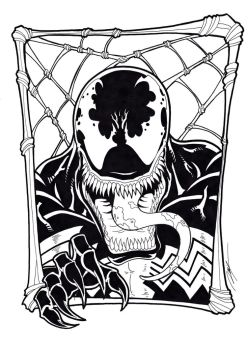 Venom Black and White by Ronniesolano