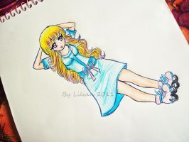 Sketch Manga Girl complete by liliandesenhos