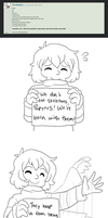 Frisk Answers #1~ by fallen--child