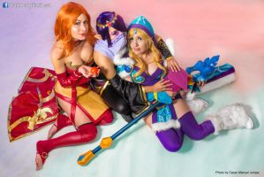 Lina, Lanaya and Crystal Maiden by DarkTifaStrife