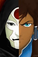 korra and amon by boldDEBO