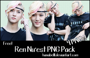 Ren Nu'est PNG Pack by HanaBell1