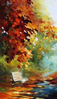ORANGE AURA - Oil Painting On Canvas by Leonidafremov