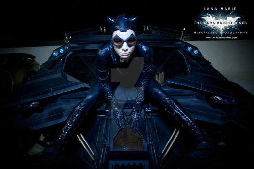 Lana Marie and the Tumbler (batmobile) by LanaMarieLive