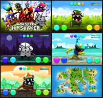 Monster Hip Shaker game screens by EmilGoska