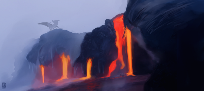 Nightwing Volcano by velocirapioca
