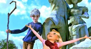 Jack Frost/Rapunzel by angeelous-dc