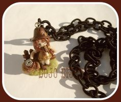 Cowgirl at the fence Necklace by Bojo-Bijoux