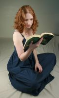 Woman Reading I by IQuitCountingStock