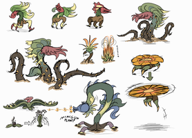 Plant Monsters #1 by Wolframclaws