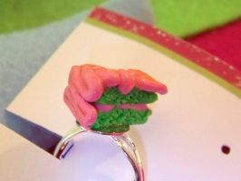 Zombie Brain Cake Ring by kawaiibuddies