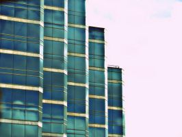 Blue Building side by LATINAAM0R