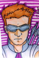 Hawkeye Sketch Card 2 by KnoppGraphics