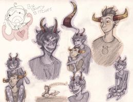 Homestuck : Gamzee and Tavros by fruits-basket-head