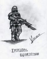 Sketchbook_Imperial Guardsman1 by MacRebisz
