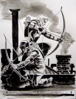 Hawkeye-Green Arrow by BillReinhold
