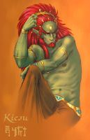 Ganondorf design 2 Coloured by kiesu