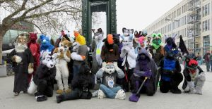 Fursuitwalk Hannover 5.4.2014 Part 17 Group Photo by ASKABANIUM