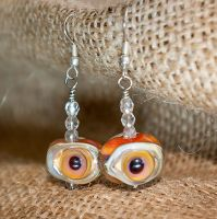 Eye earrings for your not-creepy-enough lobes by copperrein