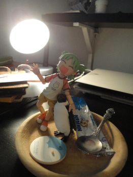 Yotsuba and mr.P by LuckyKlever