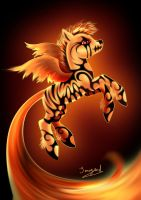My little pony FROM FIRE by Sanogard