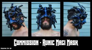 Runic Magi Leather Mask by Epic-Leather