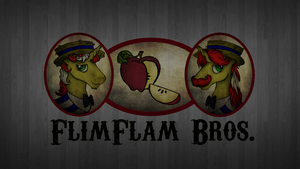 Flim Flam Brothers Logo Wallpaper by AncientOwl