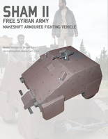 Syrian Homemade Tank Paper Model by RocketmanTan