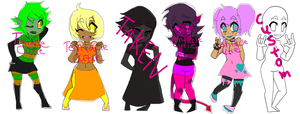 Adoptables: Lovely Ladies 5/6 open by DarlingKnife