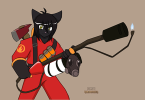 TF2 race: Black-Kat the Pyro by Droll3