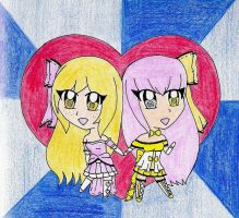 -CE- Chibi Elissia And Victoria by NekoChanTheKitty