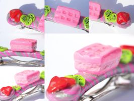 Strawberry Wafer Barrette by Shelby-JoJewelry