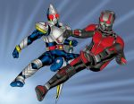 Kamen Rider Meets Ant-Man Colors by monkeygeek