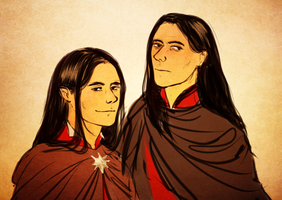 curufin and celebrimbor by jubah