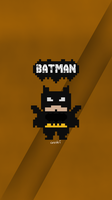 batman flat pixel by zhalovejun