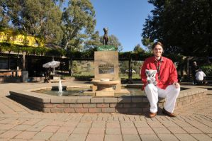 Dog on the Tuckerbox and Us by OpalMist