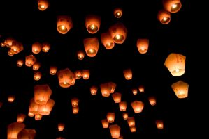 Sky lanterns by Thatrandomboy