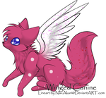Valentines Day Winged Canine  - Auction {{OPEN}} by drakeanddestleradopt