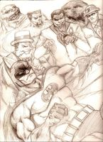 Batman Rogues Gallery by MisterHydesSon