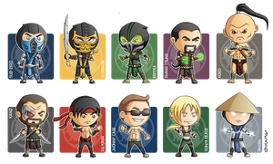 Mortal Kombat MiniGeeks by Costalonga
