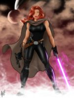 Adam Hughes' Mara Jade coloration by LordDaroth