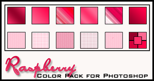 Raspberry Color Pack by redbonniekidd