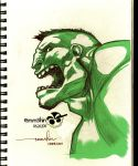 The Incredible Hulk :sketched: by emmshin