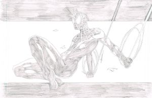 Ultimate Spiderman Pencils by blaquejag