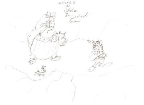 Asterix and Obelix by NeculceaEduard