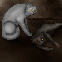 Yellowfang and Brokentail by Speck--Of--Dust