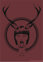 woman with deer horns by mocon