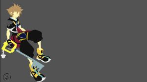 Sora (Kingdom Hearts) Minimalist by Lucifer012