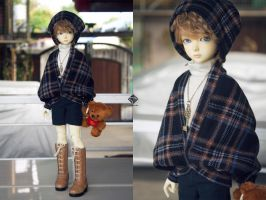 5th Atelier: Plaid Dolman-Sleeved Cardigan for MSD by Ylden