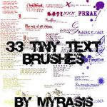 33 Tiny Text Brushes by draconis393
